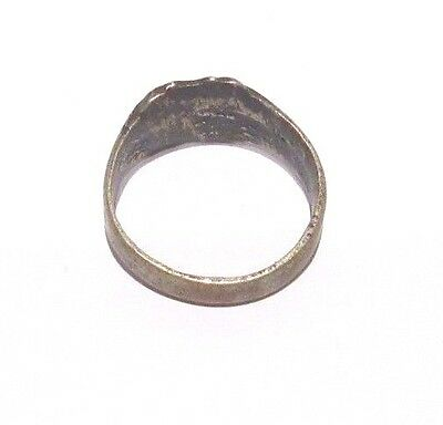MARVELOUS TOP QUALITY BRONZE ANTIQUE 1900's PERSONAL RING,YEAR INSCRIBED # 698 5