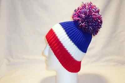 2 of 12 Luxury Fleece Lined Bobble Hat Beanie Pom Pom Mens Womens Striped  Fun Bright f91f9b72201