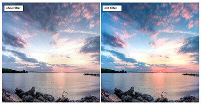 Dhd Digital Branded 58mm Color Screen Blue Full Filter Brand Filter 58 Mm 2
