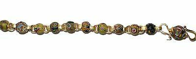 Necklace of Early Islamic Glass Beads Mount in 18k Gold  (0734) 5 • CAD $10,843.87