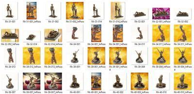 Erótico Bronze-Skulptur Frauenmodell Erótico para Usted y Él un Mujer Acto 8