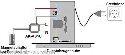 Fensterkontakt 5m, Kamin, Steuerung Dunstabzug, Abluftsteuerung Art. 230-9021-55 3