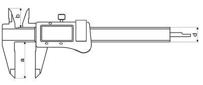 Digital Messschieber300 mm Din 862 3V - Absolute System 2