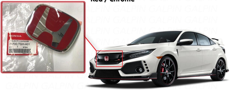 Honda Civic Sedan Odyssey 75700-S5A-000 H Emblem