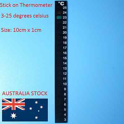 Strip Stick on Thermometer Aquarium Fish Tank DIY Home Brew Beer Barrel Reader 8