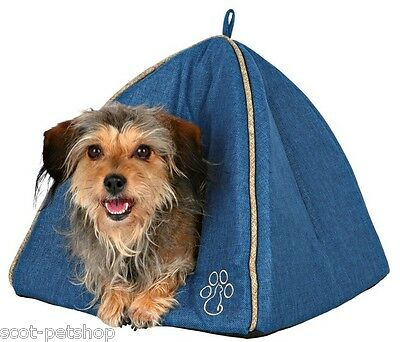 Pyra Cat Cave Small Igloo Dog Bed With Cat Style Paw Motiff 3