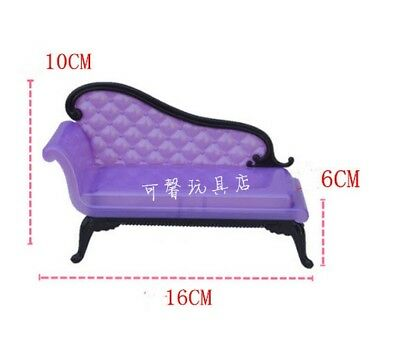 Doll Accessories Mini Dollhouse Furniture Flower Sofa Couch For 1/6 Doll Toy 3