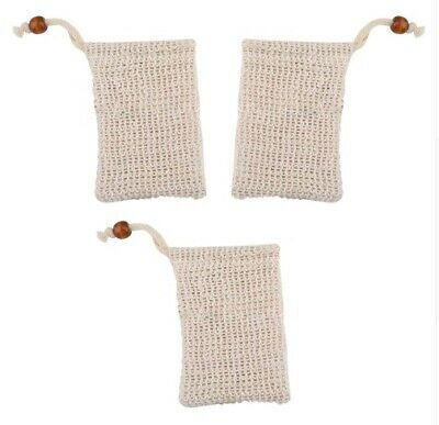 Eco Friendly Natural Sisal Wash Soap Bag Exfoliate Reusable Plastic-Free Shower 12