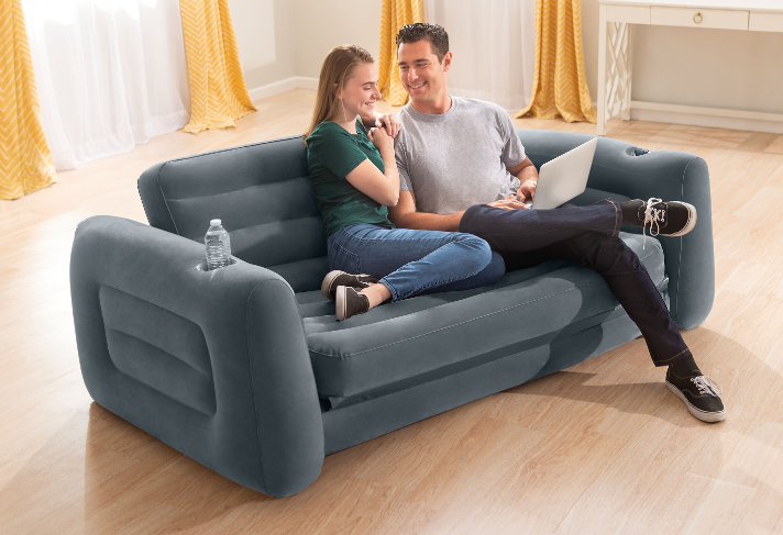 Couch Up Queen Size Futon Grey