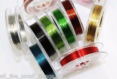 0.4mm Alambre de Cobre Fabricación Joyería Adornos Cuentas Collares - 10 Colores 3