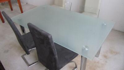 NEUER Esszimmertisch Esstisch Küchentisch Glastisch 160 cm Milchglas