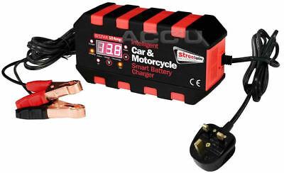 6v 12v 10A Digital Display Car 4x4 Bike Intelligent Smart Battery Charger SWIBC4