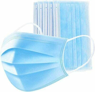 50 PCs Face Mask Medical Surgical Disposable 3-Ply Earloop Mouth Cover 4