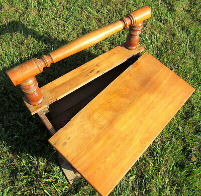 vtg large wooden shoe shine stand primitive unique (LOCAL PICKUP ONLY) 8