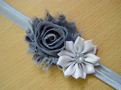 10PCS Girl Newborn Baby Toddler Infant Flower Headband Hair Bow Band Photo Props 10