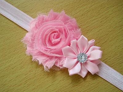 10PCS Girl Newborn Baby Toddler Infant Flower Headband Hair Bow Band Photo Props 4