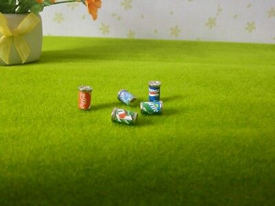 5 Dollhouse Miniature Soda Pop Cans Kitchen Food Drink Beverage Cola Pepsi 1/12 10