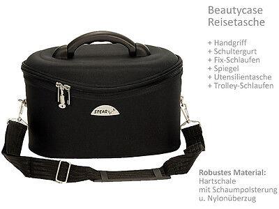 Schminkkoffer Beauty Case Kosmetikkoffer Beautycase Damen Koffer bag 531 Schwarz 9