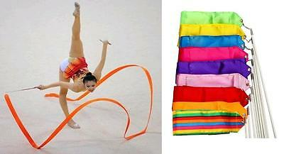 Gym Dance Ribbon Rhythmic Art Gymnastic Streamer Baton Twirling Rod Stick 4M
