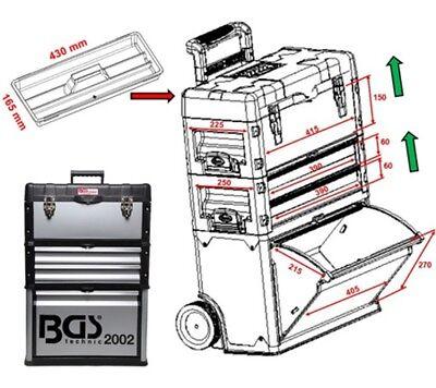 BGS Montagewagen fahrbar Werkzeugwagen Werkzeugkiste Alu Trolley mit Rollen