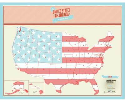 Personalized Us Map.Scratch Off Map Personalized U S A United States Us Map Poster