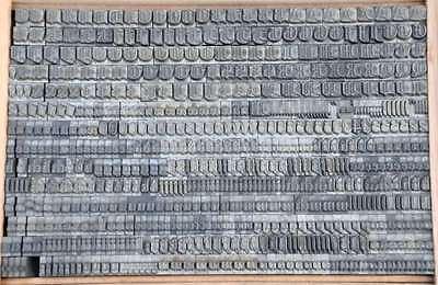 FRAKTUR 11mm Bleischrift Bleisatz  Alphabet Handsatz Bleilettern Typographie ABC 2