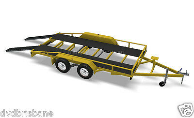 Trailer Plans - 2500KG FLATBED CAR TRAILER PLANS - TANDEM AXLE - PLANS ON CD-ROM 4