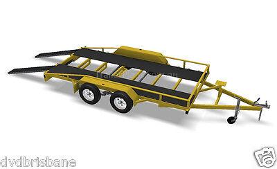 Trailer Plans - 2500kg FLATBED, BOX & MOTORBIKE TRAILER PLANS - Plans on CD-ROM 3