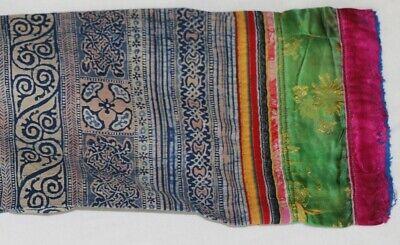 Vintage tribal chinese minority people' old hand batik embroidery costume jacket 4