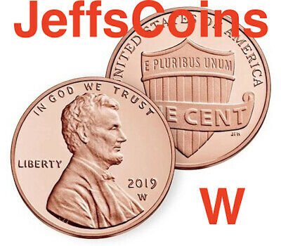 2019 W REVERSE Lincoln Shield Cent Proof New West Point Penny Union US Mint #2/3 2