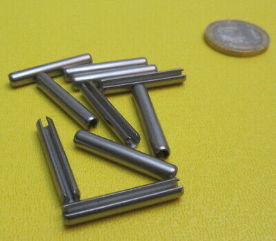 18-8 Stainless Steel Slotted Metric Spring Pin M4 Dia x 26 mm Length, 30 pcs 7