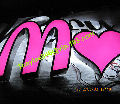outdoor sign,channel letter with waterproof led.customs size accept.12 inches 2