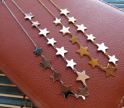 Collana con 12 stelle in acciaio 316L - Oro/Argento Moda Novità 7