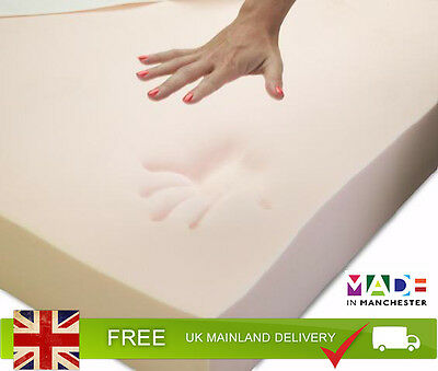 Memory Foam Mattress Topper - Orthopedic. | All UK Bed Sizes | Choice of Cover 2