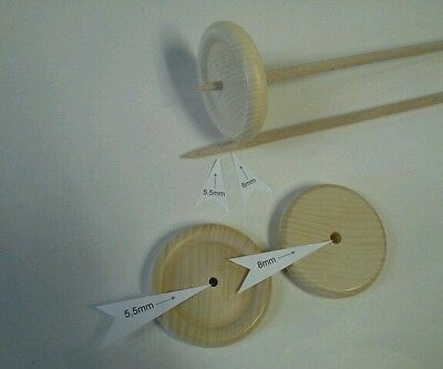Handspindel Spindel D 8cm  x  L  30cm  zum spinnen von Wolle zu Garn stricken . 7