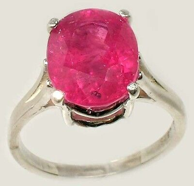 Red Sapphire Ring 5¼ct+ Antique 19thC Medieval Sorcery Psychic Anti-Black Magic 2