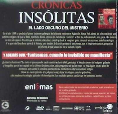 Crónicas Insólitas - El Lado Oscuro Del Misterio - Libro + Dvd - 2006
