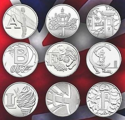 Rare 2018 Alphabet A-Z 10p Ten Pence Coins Bond, Angel  ALL IN STOCK UNC COINS 2