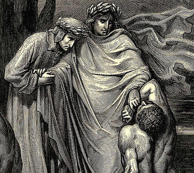 Dante's Inferno - Accosted on the River Styx by Gustave Dore Print 2