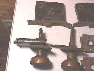1905 Russell & Erwin Andros Brass Knobs & Plates- Cross 2