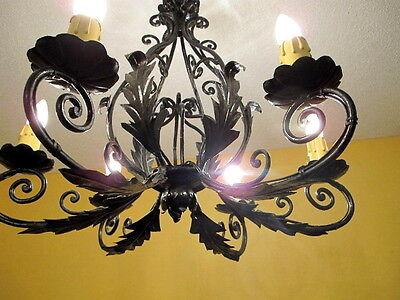 Classic light fixture CHANDELIER CAST IRON VINTAGE FRENCH PROVINCIAL 9