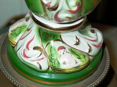 2 Capodimonte Italy Antique Porcelain Cherub Table Lamp Lamps 7