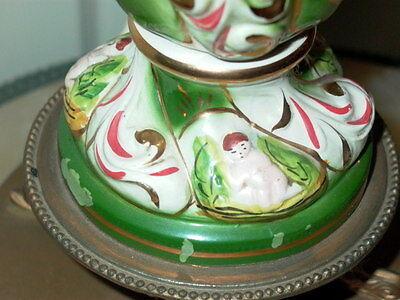 2 Capodimonte Italy Antique Porcelain Cherub Table Lamp Lamps 6