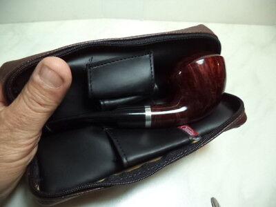 Borsa Portapipa Per 1 Pipa + Accessori  Atomic Bag Pipe  Similpelle Marrone  New 4