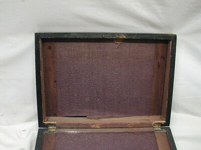 Antique Wooden Lap/Field Desk Writing Case Wood Box Tool Tole Painted 5