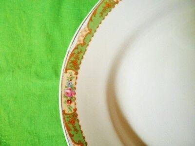 Vintage Platter Green Floral Edge Jg Meakin 40.5Cm Meat Turkey Platter Xmas 3