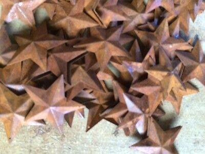 "50 Dimensional Rusty Barn Stars 2.25 in 2 1/4"" Primitive Metal Rust 57mm Craft * 5"