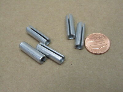 """Zinc Plate Steel Slotted Roll Spring Pin, 1/4"""" Dia x 7/8"""" Length, 100 pcs 6"""