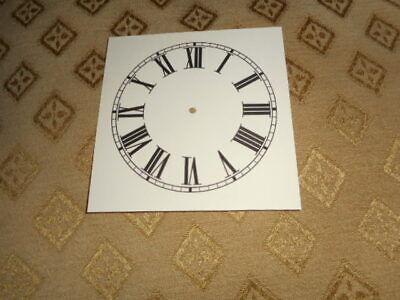 """Square Paper (Card) Clock Dial - 3 1/2"""" M/T- Roman - MATT CREAM - Parts/Spares 3"""