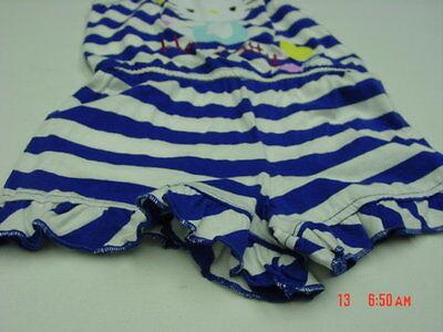 08d551e9e ... NWT Toddler Girls Hello Kitty Romper Blue White Striped Summer Cute  Adorable 6